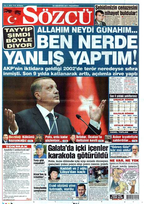 Günün önemli gazete manşetleri (22.08.11) galerisi resim 16