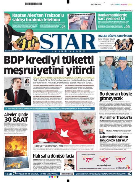 Günün önemli gazete manşetleri (22.08.11) galerisi resim 17