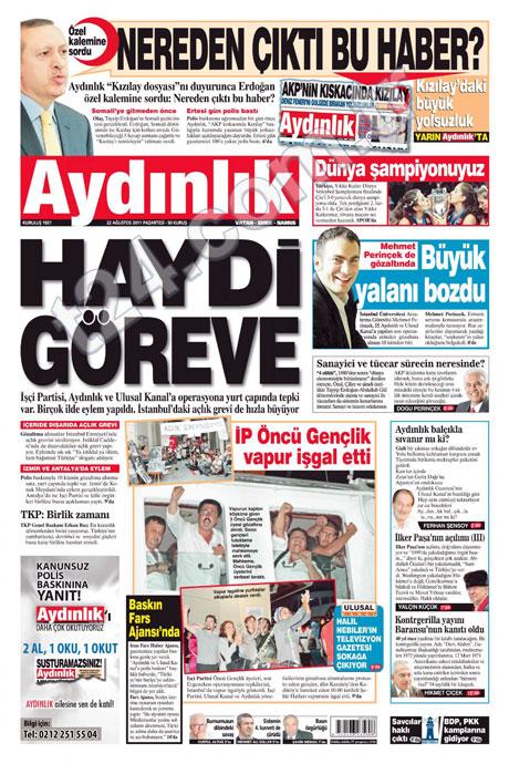 Günün önemli gazete manşetleri (22.08.11) galerisi resim 2