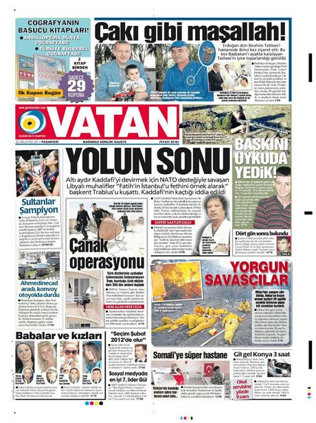 Günün önemli gazete manşetleri (22.08.11) galerisi resim 21