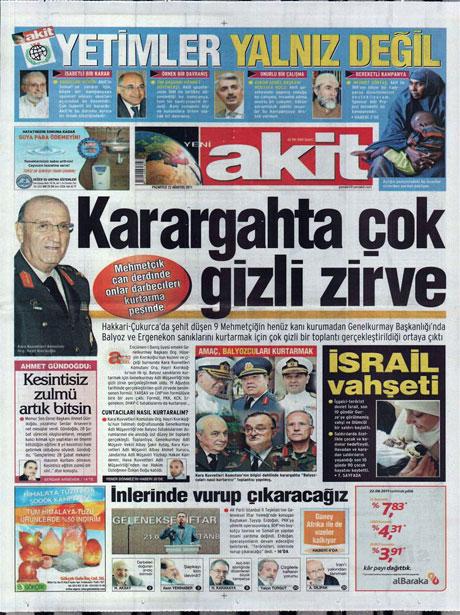 Günün önemli gazete manşetleri (22.08.11) galerisi resim 23