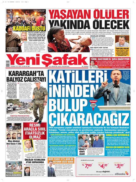 Günün önemli gazete manşetleri (22.08.11) galerisi resim 24