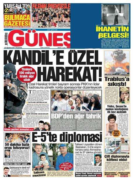 Günün önemli gazete manşetleri (22.08.11) galerisi resim 26