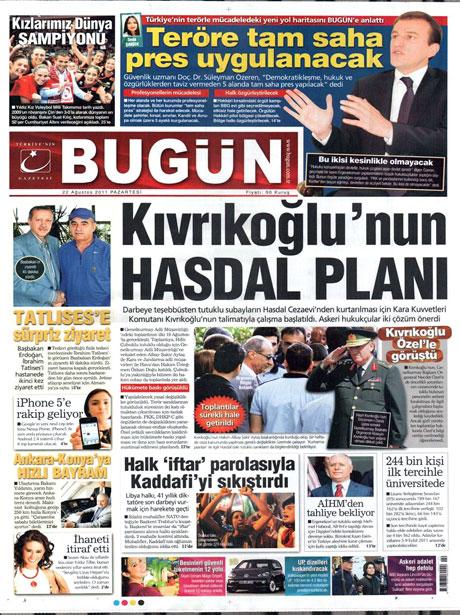 Günün önemli gazete manşetleri (22.08.11) galerisi resim 4