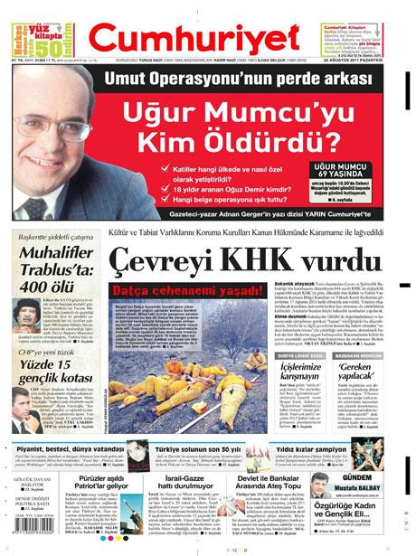 Günün önemli gazete manşetleri (22.08.11) galerisi resim 5