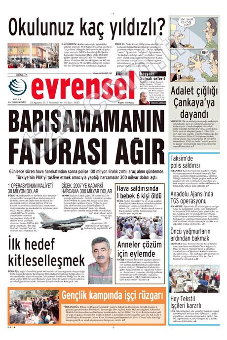 Günün önemli gazete manşetleri (22.08.11) galerisi resim 6
