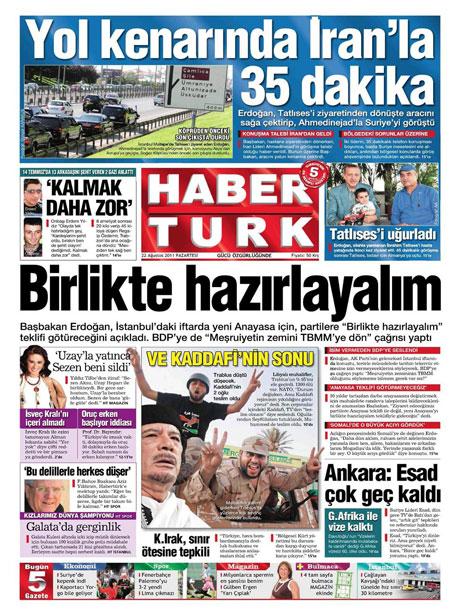 Günün önemli gazete manşetleri (22.08.11) galerisi resim 7
