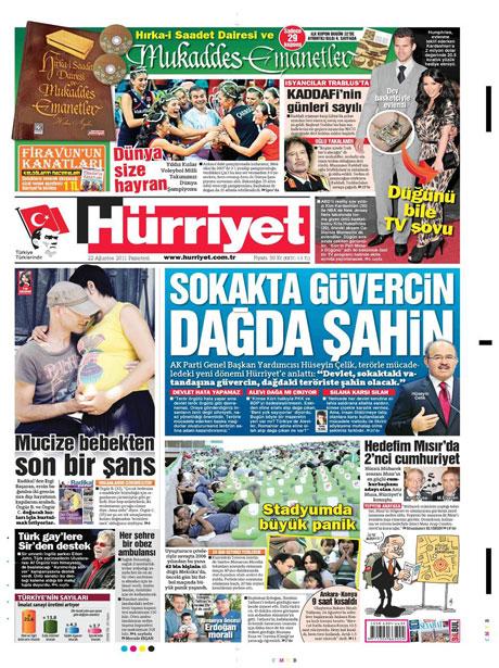 Günün önemli gazete manşetleri (22.08.11) galerisi resim 8
