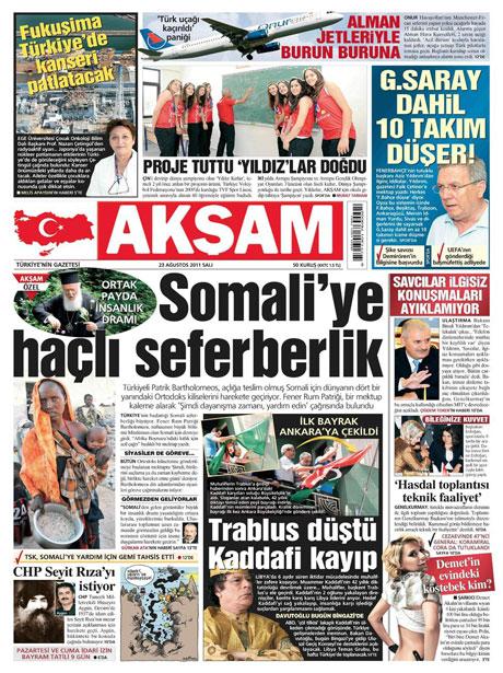 Günün önemli gazete manşetleri (23.08.11) galerisi resim 1