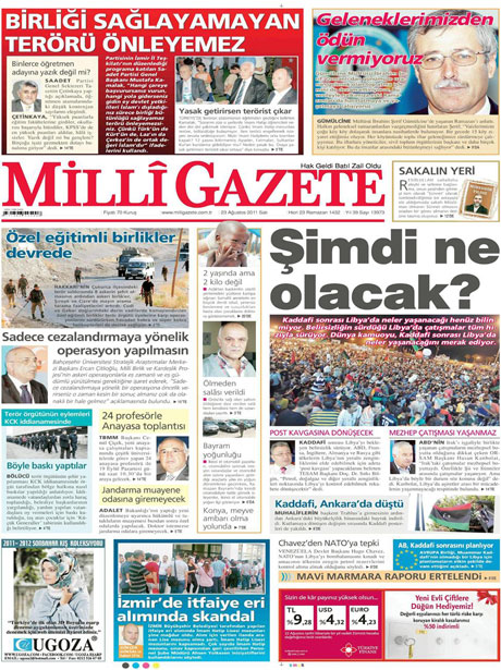 Günün önemli gazete manşetleri (23.08.11) galerisi resim 10