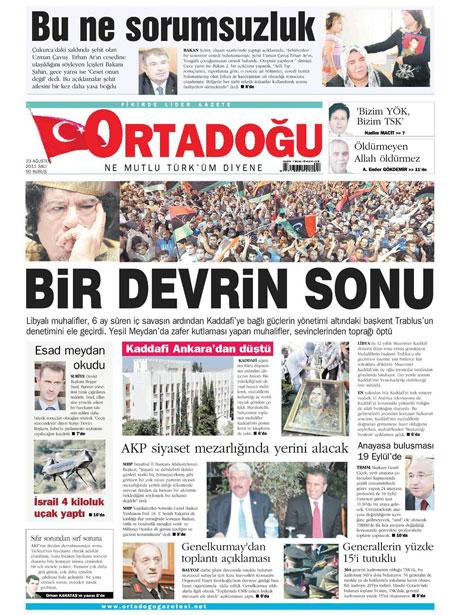 Günün önemli gazete manşetleri (23.08.11) galerisi resim 12
