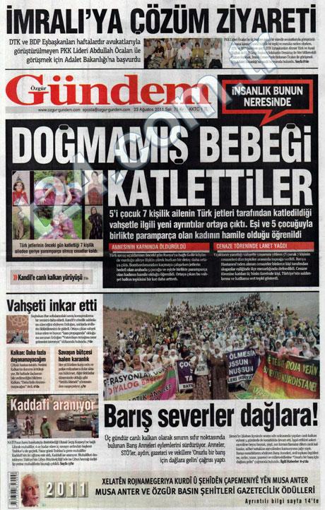 Günün önemli gazete manşetleri (23.08.11) galerisi resim 13
