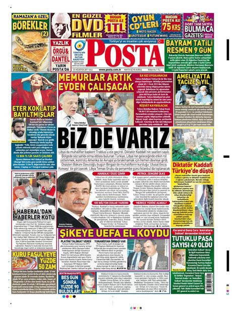 Günün önemli gazete manşetleri (23.08.11) galerisi resim 14