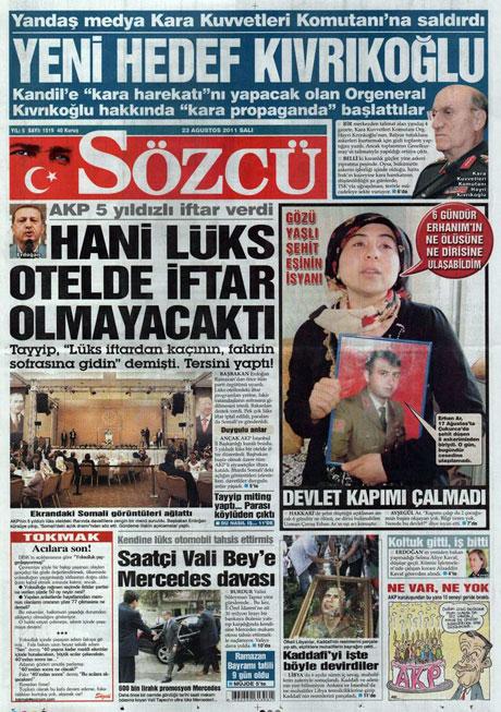 Günün önemli gazete manşetleri (23.08.11) galerisi resim 17