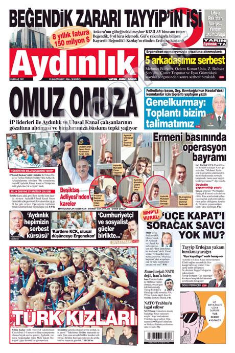 Günün önemli gazete manşetleri (23.08.11) galerisi resim 2