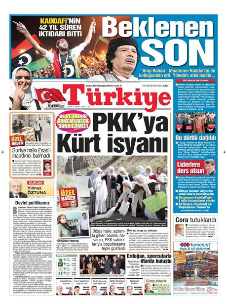Günün önemli gazete manşetleri (23.08.11) galerisi resim 21