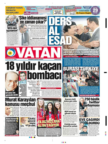 Günün önemli gazete manşetleri (23.08.11) galerisi resim 22