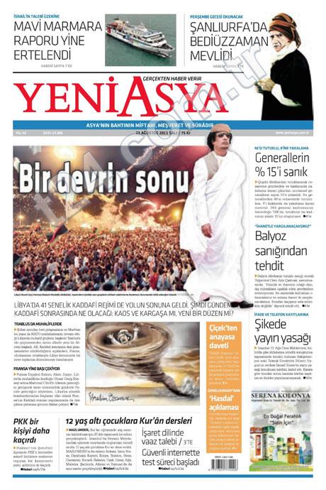 Günün önemli gazete manşetleri (23.08.11) galerisi resim 23