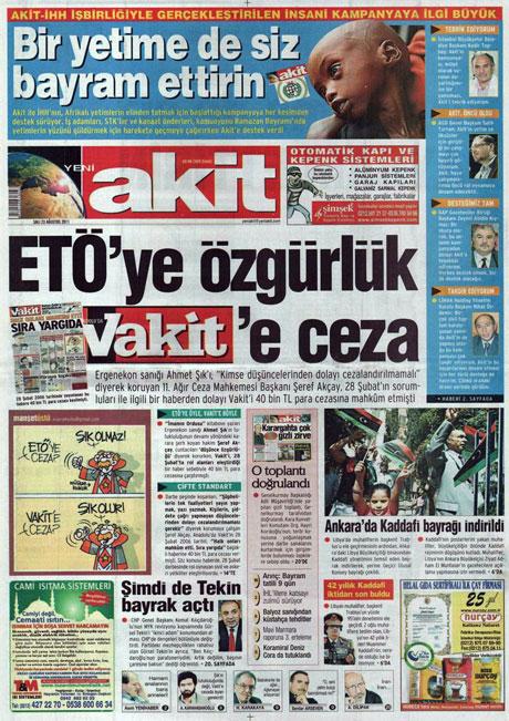 Günün önemli gazete manşetleri (23.08.11) galerisi resim 24