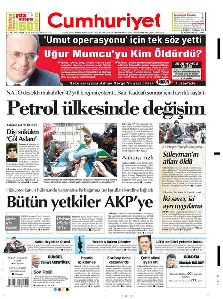 Günün önemli gazete manşetleri (23.08.11) galerisi resim 5