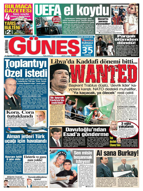 Günün önemli gazete manşetleri (23.08.11) galerisi resim 6