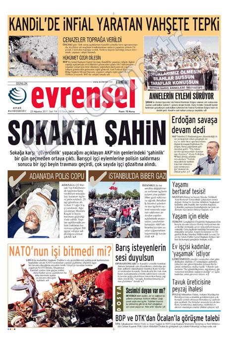 Günün önemli gazete manşetleri (23.08.11) galerisi resim 7