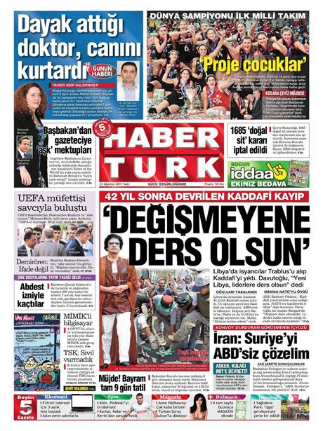 Günün önemli gazete manşetleri (23.08.11) galerisi resim 8