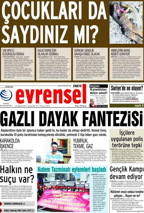 Günün önemli gazete manşetleri (24.08.11) galerisi resim 1