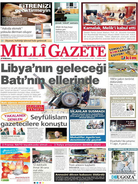 Günün önemli gazete manşetleri (24.08.11) galerisi resim 10