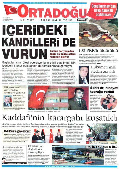 Günün önemli gazete manşetleri (24.08.11) galerisi resim 12