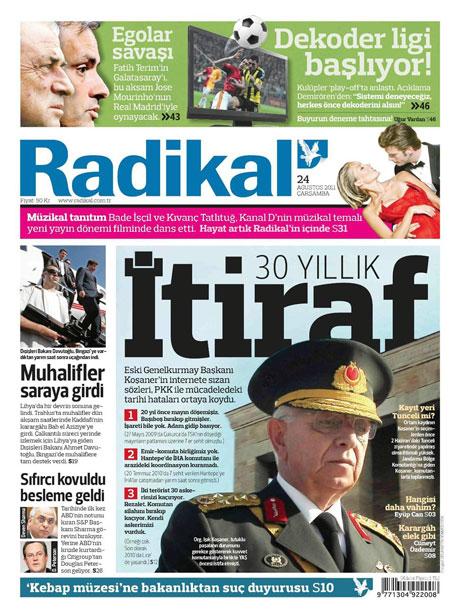Günün önemli gazete manşetleri (24.08.11) galerisi resim 14