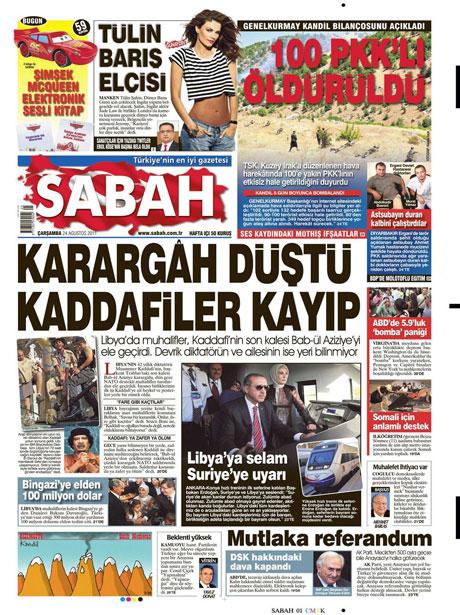 Günün önemli gazete manşetleri (24.08.11) galerisi resim 15