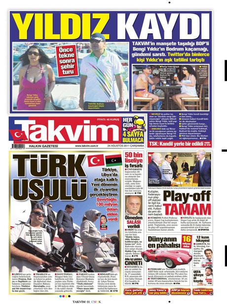 Günün önemli gazete manşetleri (24.08.11) galerisi resim 18