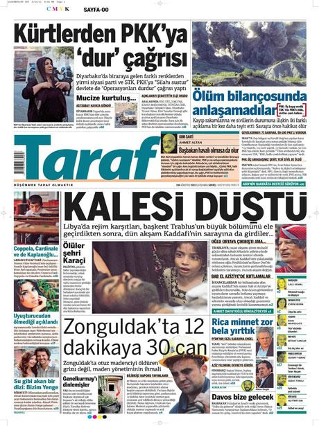 Günün önemli gazete manşetleri (24.08.11) galerisi resim 19