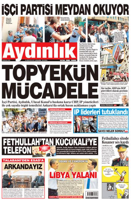 Günün önemli gazete manşetleri (24.08.11) galerisi resim 2