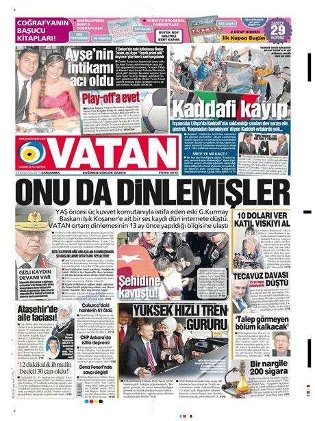 Günün önemli gazete manşetleri (24.08.11) galerisi resim 21
