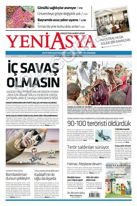 Günün önemli gazete manşetleri (24.08.11) galerisi resim 22