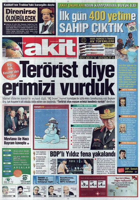 Günün önemli gazete manşetleri (24.08.11) galerisi resim 23