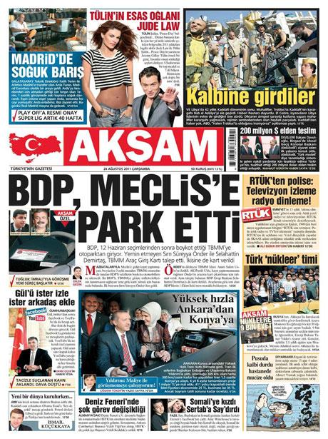 Günün önemli gazete manşetleri (24.08.11) galerisi resim 3