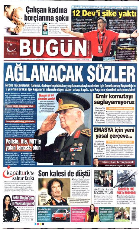 Günün önemli gazete manşetleri (24.08.11) galerisi resim 5