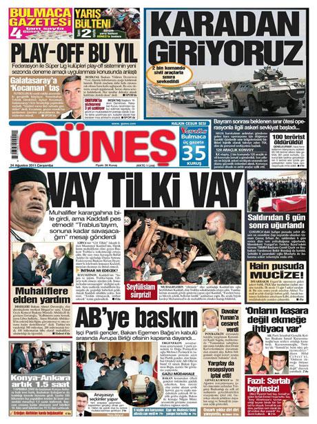 Günün önemli gazete manşetleri (24.08.11) galerisi resim 7