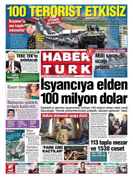 Günün önemli gazete manşetleri (24.08.11) galerisi resim 8