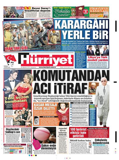 Günün önemli gazete manşetleri (24.08.11) galerisi resim 9