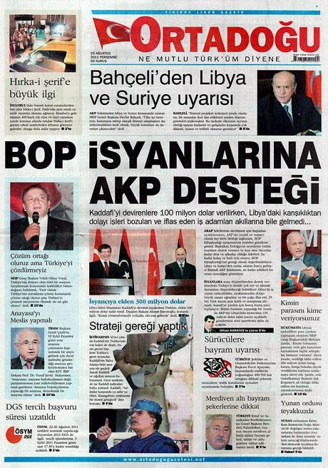 Günün önemli gazete manşetleri (25.08.11) galerisi resim 11