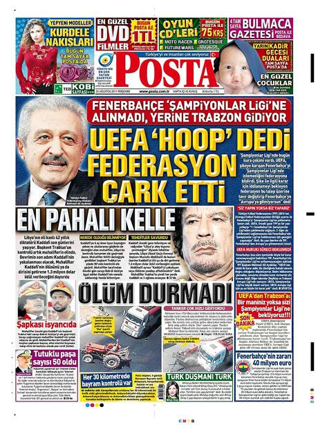 Günün önemli gazete manşetleri (25.08.11) galerisi resim 12