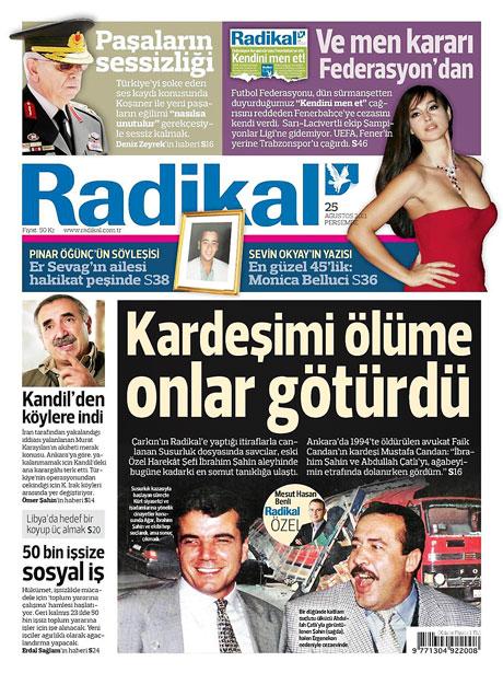 Günün önemli gazete manşetleri (25.08.11) galerisi resim 13