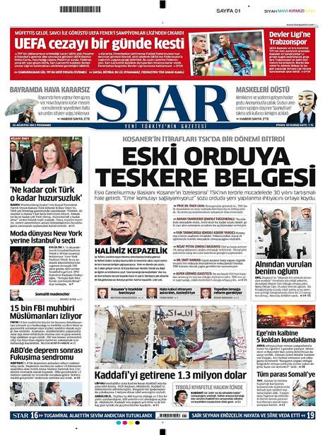 Günün önemli gazete manşetleri (25.08.11) galerisi resim 16