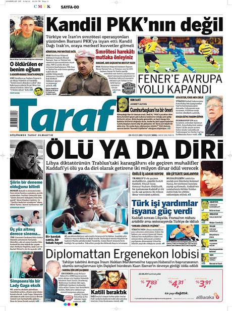 Günün önemli gazete manşetleri (25.08.11) galerisi resim 18