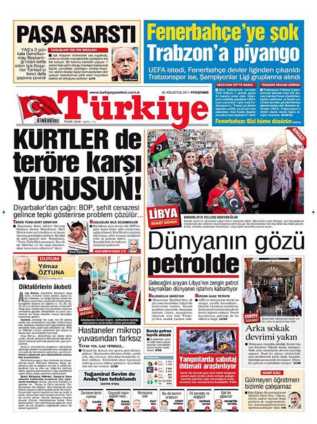 Günün önemli gazete manşetleri (25.08.11) galerisi resim 19