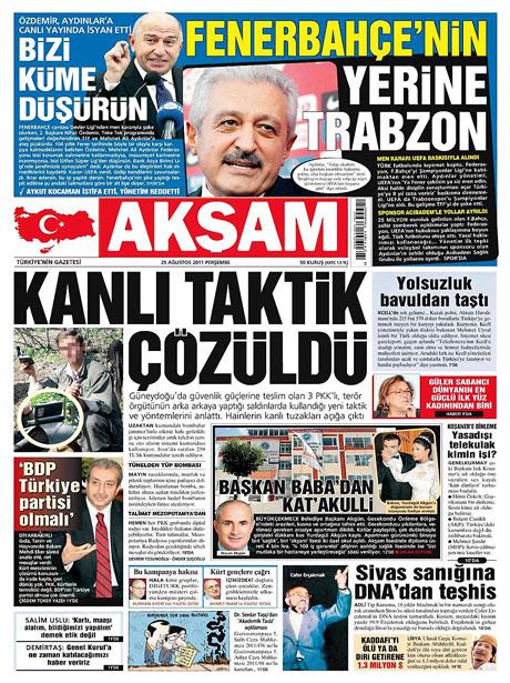 Günün önemli gazete manşetleri (25.08.11) galerisi resim 2